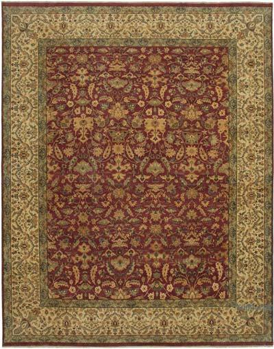 """New Hand-Knotted Wool Oushak Rug - 11' 8"""" x 14' 11"""" (140 in. x 179 in.)"""