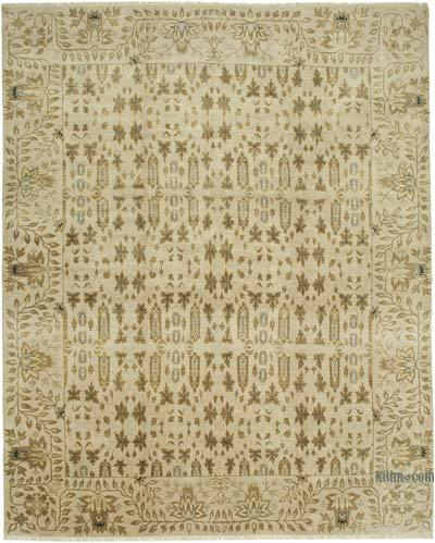 """Beige New Hand-Knotted Wool Oushak Rug - 11' 9"""" x 14' 5"""" (141 in. x 173 in.)"""