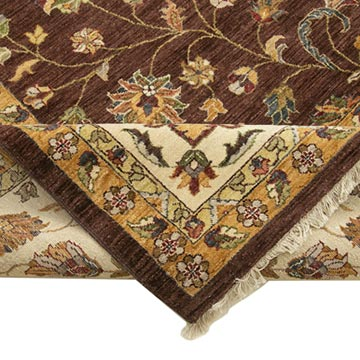 """Brown, Beige New Hand-Knotted Wool Oushak Rug - 11' 10"""" x 14' 10"""" (142 in. x 178 in.) - K0056599"""