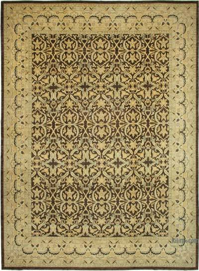 """Beige, Brown New Hand-Knotted Wool Oushak Rug - 13' 3"""" x 18' 2"""" (159 in. x 218 in.)"""