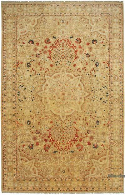 """Beige New Hand-Knotted Wool Oushak Rug - 10' 10"""" x 17' 3"""" (130 in. x 207 in.)"""