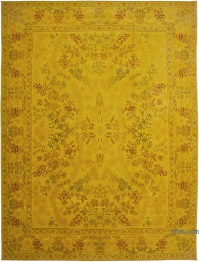 """Yellow New Hand-Knotted Wool Oushak Rug - 12'  x 16' 1"""" (144 in. x 193 in.)"""