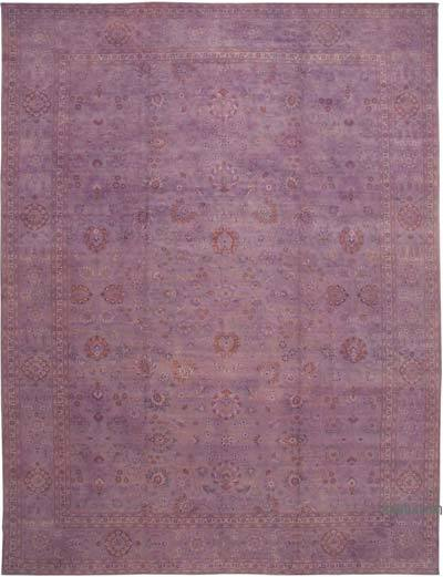 """Purple New Hand-Knotted Wool Oushak Rug - 13' 1"""" x 17' 3"""" (157 in. x 207 in.)"""