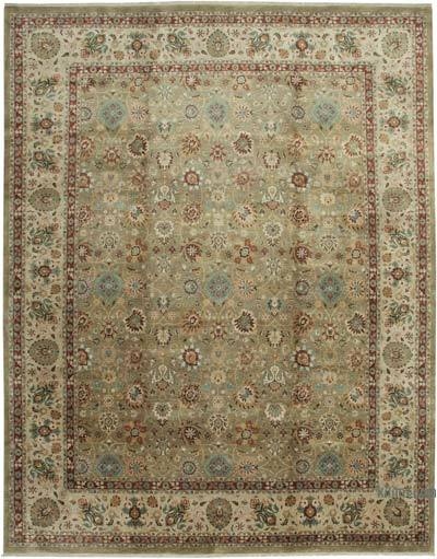 """Brown New Hand-Knotted Wool Oushak Rug - 11' 11"""" x 15' 3"""" (143 in. x 183 in.)"""