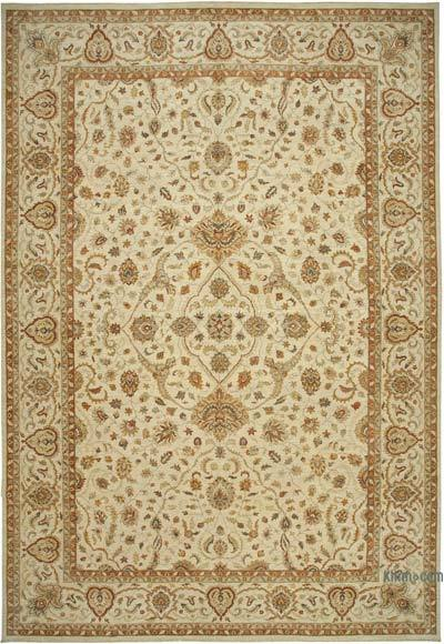 """Beige New Hand-Knotted Wool Oushak Rug - 13' 11"""" x 20' 2"""" (167 in. x 242 in.)"""