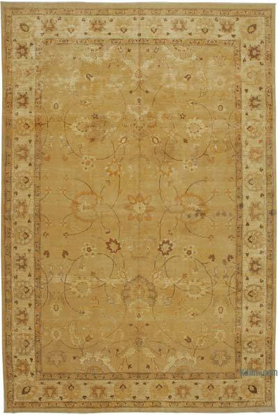 """Orange New Hand-Knotted Wool Oushak Rug - 10' 3"""" x 15' 5"""" (123 in. x 185 in.)"""