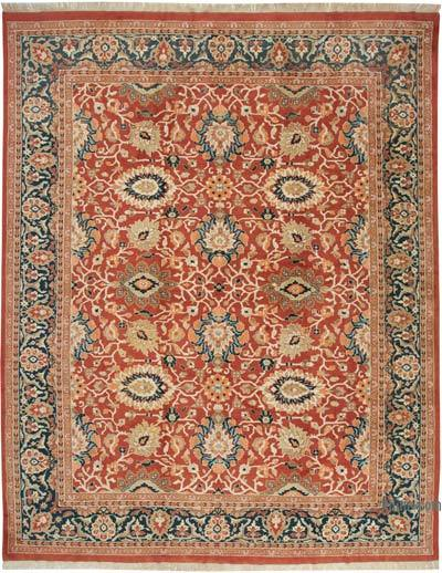 """Red New Hand-Knotted Wool Oushak Rug - 12' 3"""" x 15' 7"""" (147 in. x 187 in.)"""