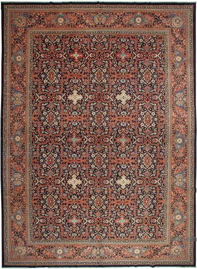 """Multicolor New Hand-Knotted Wool Oushak Rug - 13' 9"""" x 18' 11"""" (165 in. x 227 in.)"""