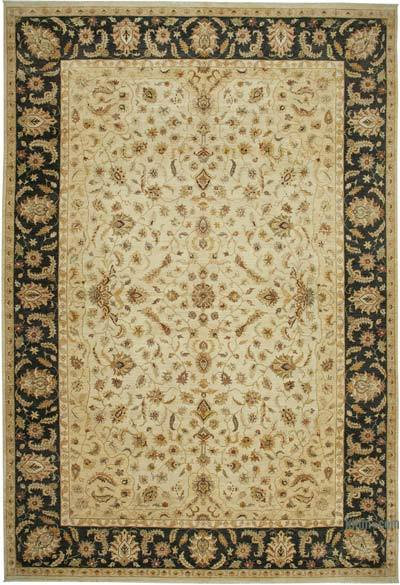 """Beige New Hand-Knotted Wool Oushak Rug - 13' 8"""" x 19' 11"""" (164 in. x 239 in.)"""