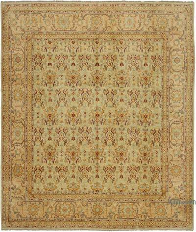 """Green New Hand-Knotted Wool Oushak Rug - 12' 2"""" x 14'  (146 in. x 168 in.)"""
