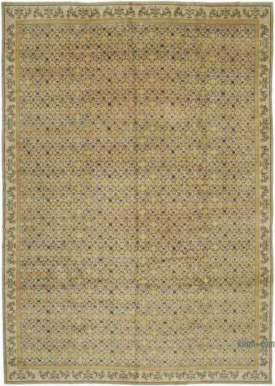"""Beige New Hand-Knotted Wool Oushak Rug - 11' 10"""" x 17' 1"""" (142 in. x 205 in.)"""