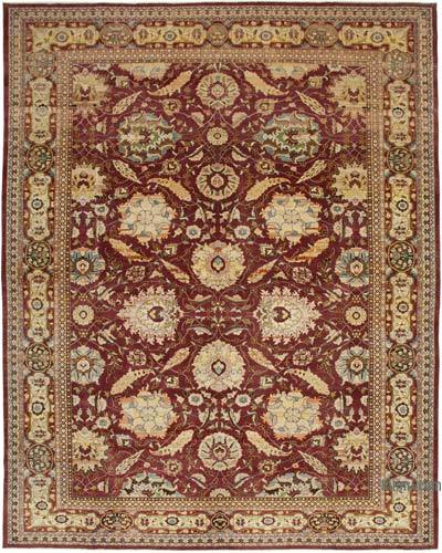"""Red New Hand-Knotted Wool Oushak Rug - 11' 11"""" x 15' 2"""" (143 in. x 182 in.)"""