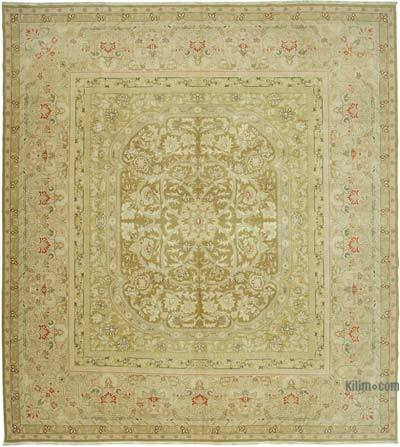 """Beige New Hand-Knotted Wool Oushak Rug - 13' 1"""" x 14' 7"""" (157 in. x 175 in.)"""