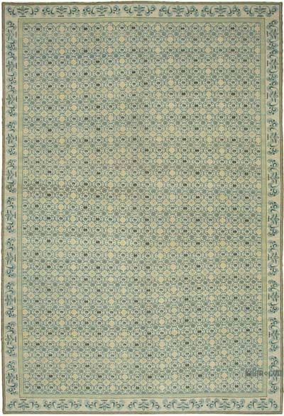 """Beige, Blue New Hand-Knotted Wool Oushak Rug - 11' 11"""" x 17' 9"""" (143 in. x 213 in.)"""