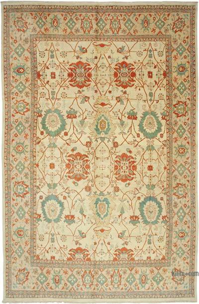 """Beige New Hand-Knotted Wool Oushak Rug - 11' 5"""" x 17' 4"""" (137 in. x 208 in.)"""