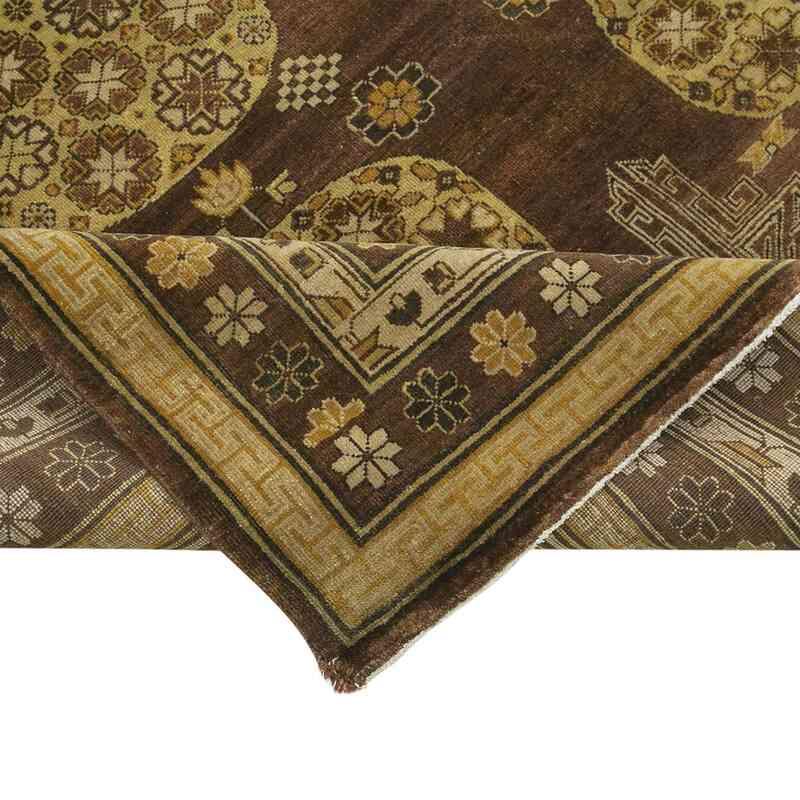 Kahverengi, Sarı Yeni El Dokuma Uşak Halısı - 272 cm x 358 cm - K0056667
