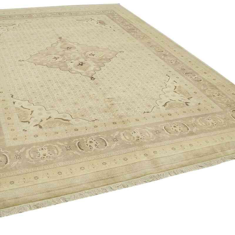 Bej Yeni El Dokuma Uşak Halısı - 279 cm x 368 cm - K0056668