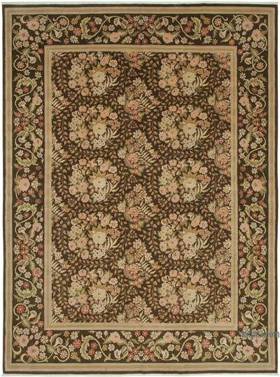 """Beige, Brown New Hand-Knotted Wool Oushak Rug - 9' 8"""" x 13'  (116 in. x 156 in.)"""
