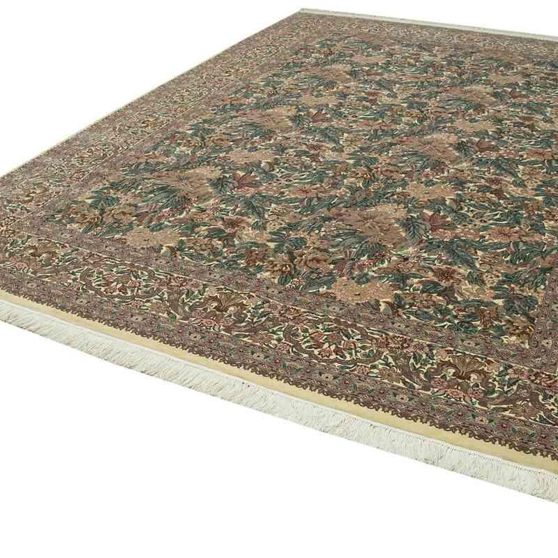 Bej Yeni El Dokuma Uşak Halısı - 274 cm x 366 cm - K0056674