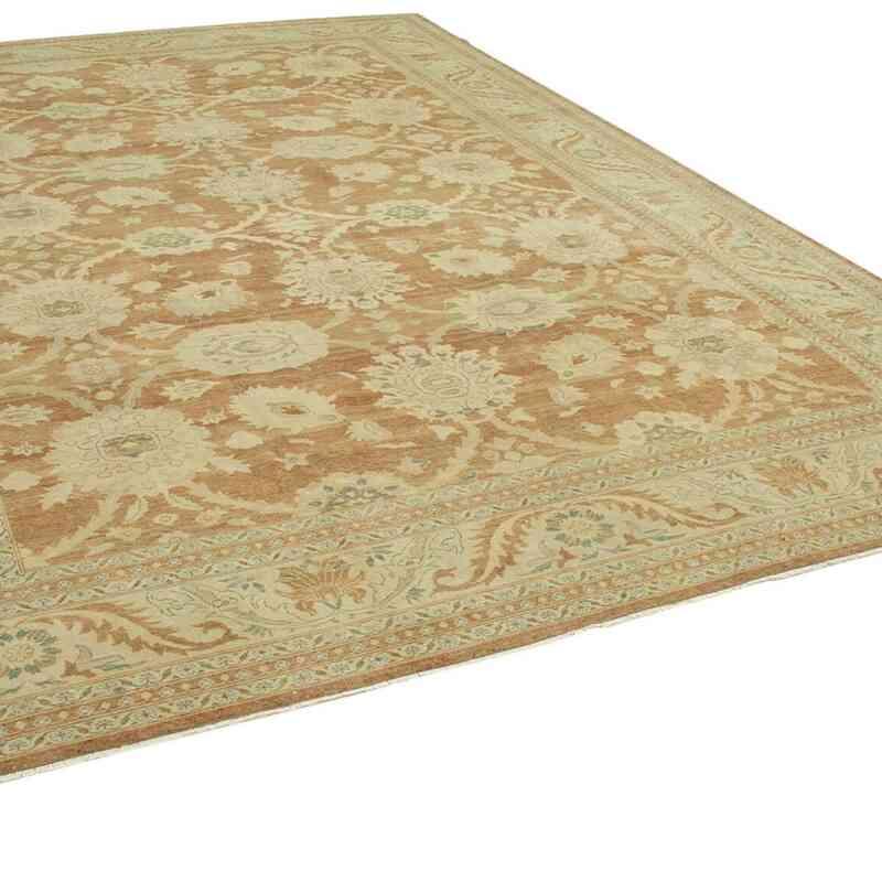 Bej Yeni El Dokuma Uşak Halısı - 305 cm x 435 cm - K0056678