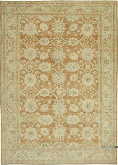 """Beige New Hand-Knotted Wool Oushak Rug - 10'  x 14' 3"""" (120 in. x 171 in.)"""