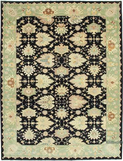 """New Hand-Knotted Wool Oushak Rug - 10' 1"""" x 13' 7"""" (121 in. x 163 in.)"""