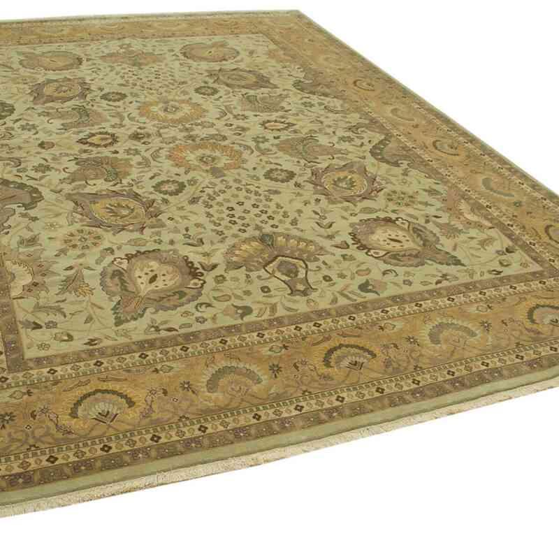 Bej, Sarı Yeni El Dokuma Uşak Halısı - 272 cm x 366 cm - K0056690