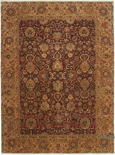 """Red New Hand-Knotted Wool Oushak Rug - 9' 2"""" x 12' 5"""" (110 in. x 149 in.)"""