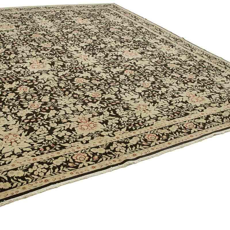 Bej, Siyah Yeni El Dokuma Uşak Halısı - 360 cm x 416 cm - K0056698