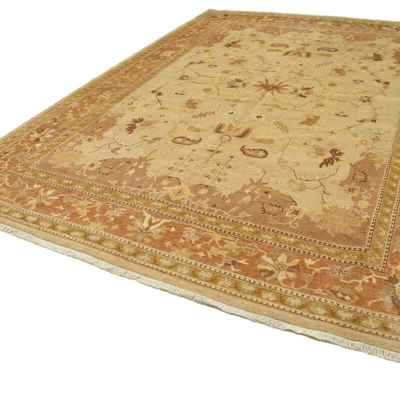 Bej, Sarı Yeni El Dokuma Uşak Halısı - 310 cm x 420 cm - K0056699