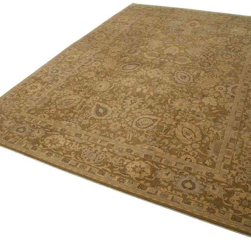 Kahverengi Yeni El Dokuma Uşak Halısı - 303 cm x 447 cm - K0056707
