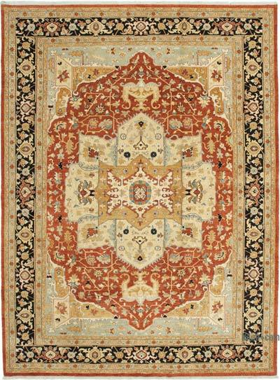"""Beige New Hand-Knotted Wool Oushak Rug - 10' 1"""" x 13' 8"""" (121 in. x 164 in.)"""