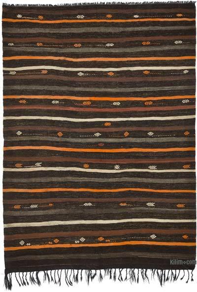 Kahverengi Vintage Anadolu Kilim - 220 cm x 303 cm