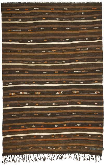 Kahverengi Vintage Anadolu Kilim - 220 cm x 330 cm