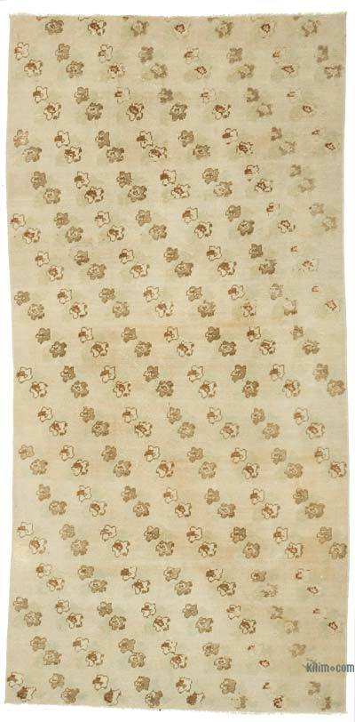 """Vintage Turkish Hand-Knotted Rug - 4' 2"""" x 8' 4"""" (50 in. x 100 in.)"""