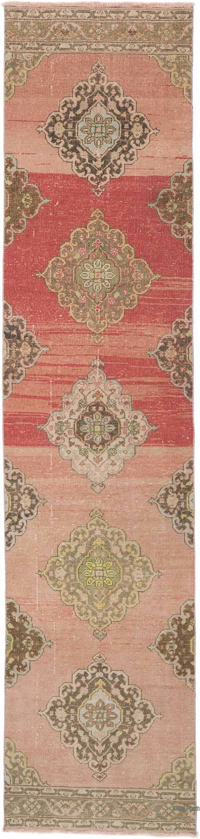 """Vintage Turkish Hand-Knotted Runner - 2' 10"""" x 12' 2"""" (34 in. x 146 in.)"""
