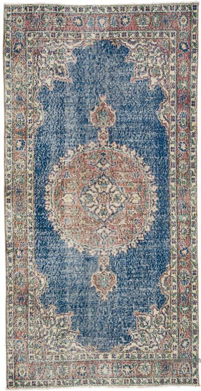 """Vintage Turkish Hand-Knotted Rug - 3' 7"""" x 7' 3"""" (43 in. x 87 in.)"""