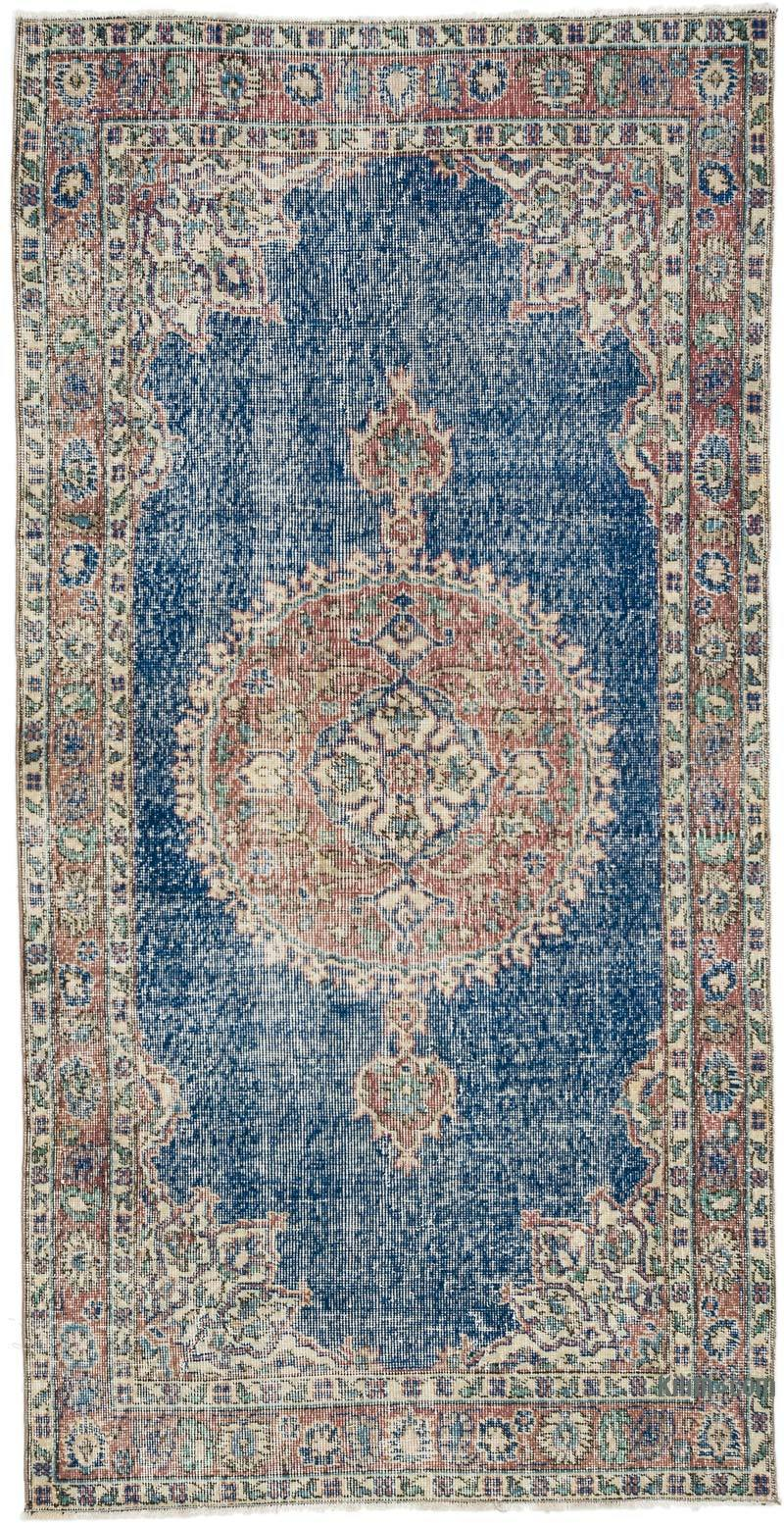 """Vintage Turkish Hand-Knotted Rug - 3' 7"""" x 7' 3"""" (43 in. x 87 in.) - K0056745"""