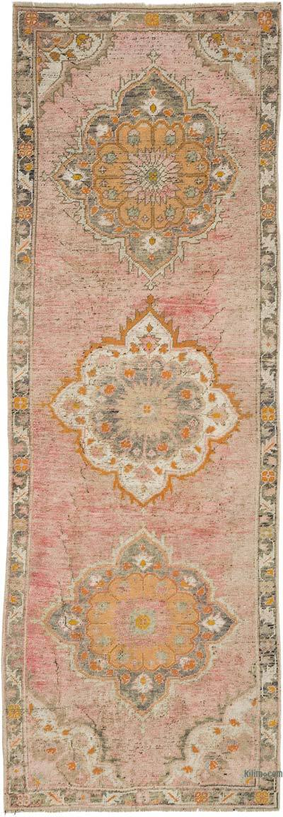 """Vintage Turkish Hand-Knotted Runner - 3' 3"""" x 9' 10"""" (39 in. x 118 in.)"""