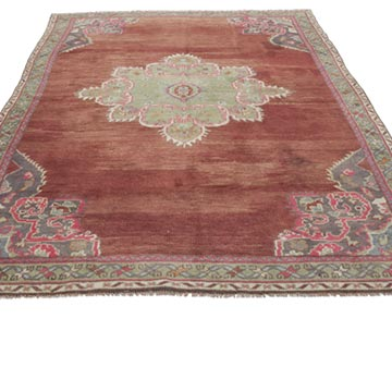 """Vintage Turkish Hand-Knotted Rug - 4' 11"""" x 7' 3"""" (59 in. x 87 in.) - K0056750"""