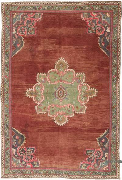 """Vintage Turkish Hand-Knotted Rug - 4' 11"""" x 7' 3"""" (59 in. x 87 in.)"""