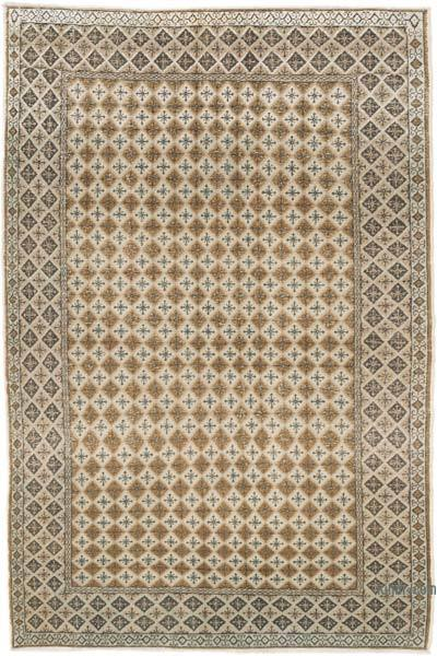 """Vintage Turkish Hand-Knotted Rug - 4' 8"""" x 7'  (56 in. x 84 in.)"""