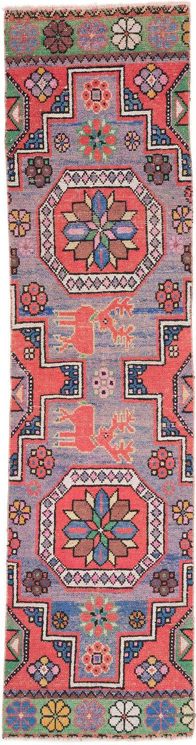 """Vintage Turkish Hand-Knotted Runner - 2' 5"""" x 9'  (29 in. x 108 in.)"""