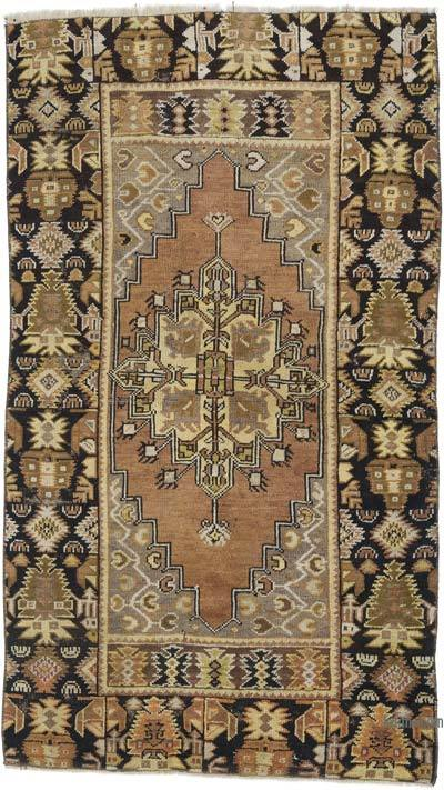 """Vintage Turkish Hand-Knotted Rug - 3' 3"""" x 5' 8"""" (39 in. x 68 in.)"""