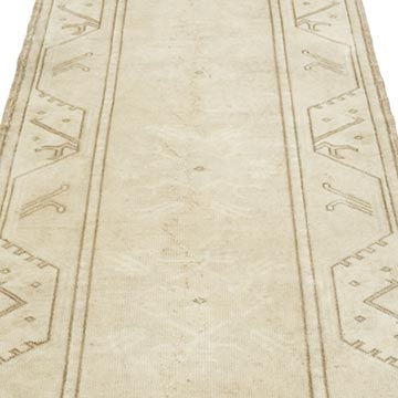 """Vintage Turkish Hand-Knotted Runner - 2' 8"""" x 9' 4"""" (32 in. x 112 in.) - K0056771"""