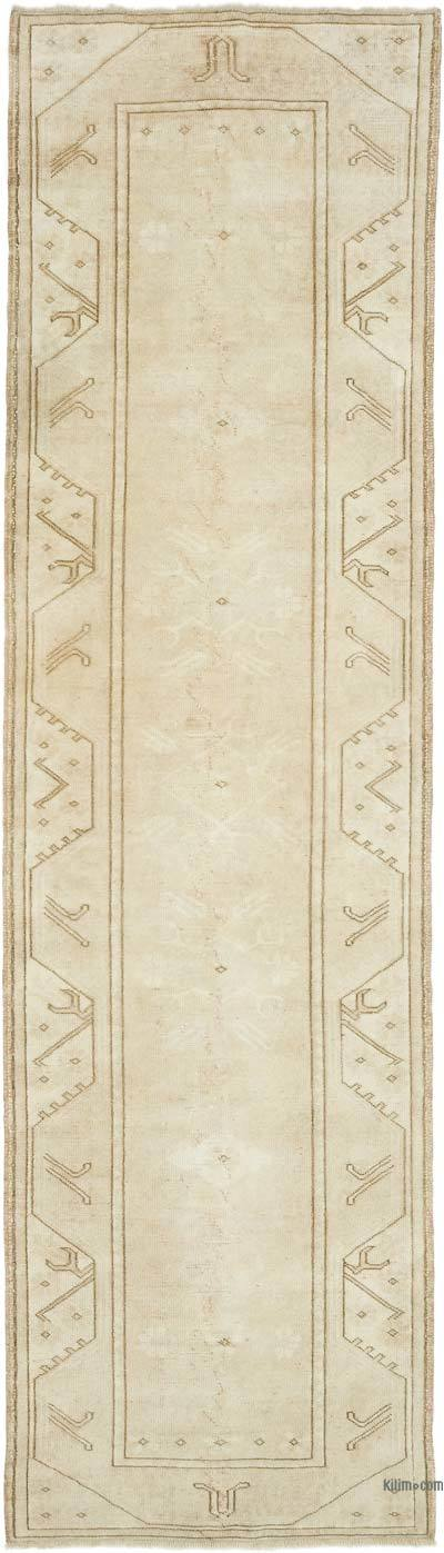 """Vintage Turkish Hand-Knotted Runner - 2' 8"""" x 9' 4"""" (32 in. x 112 in.)"""