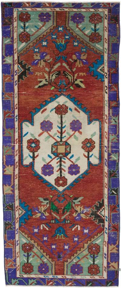 """Vintage Turkish Hand-Knotted Runner - 2' 9"""" x 6' 6"""" (33 in. x 78 in.)"""