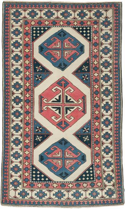 """Vintage Turkish Hand-Knotted Rug - 3' 10"""" x 6' 3"""" (46 in. x 75 in.)"""