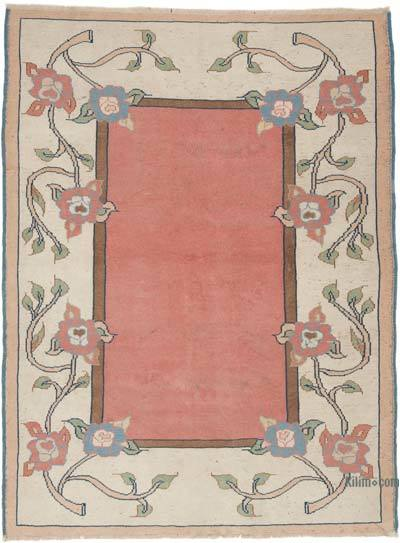 """Vintage Turkish Hand-Knotted Rug - 5' 3"""" x 7' 1"""" (63 in. x 85 in.)"""