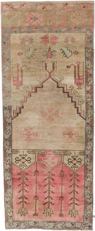 """Vintage Turkish Hand-Knotted Runner - 2' 7"""" x 6' 3"""" (31 in. x 75 in.)"""